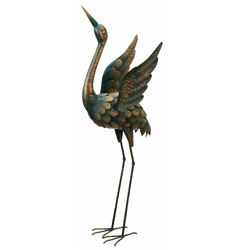 Flying Crane - Head Up - Exclusive Ironworks - Gorgeous yard ornaments Birds