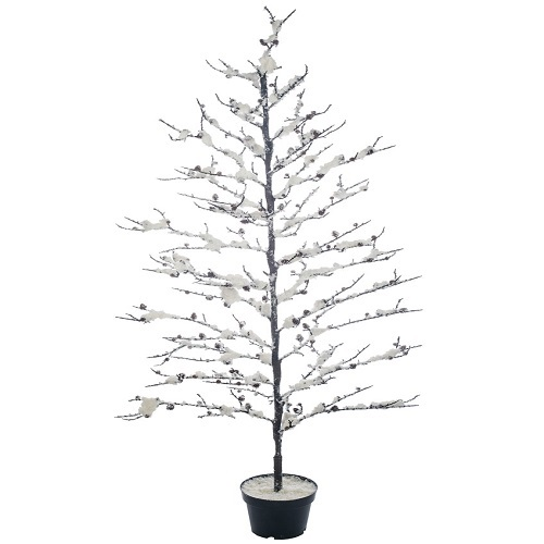 Snowy Twig Potted Wire Tree - Themed Rentals - wired Charlie Brown Twig Christmas Tree