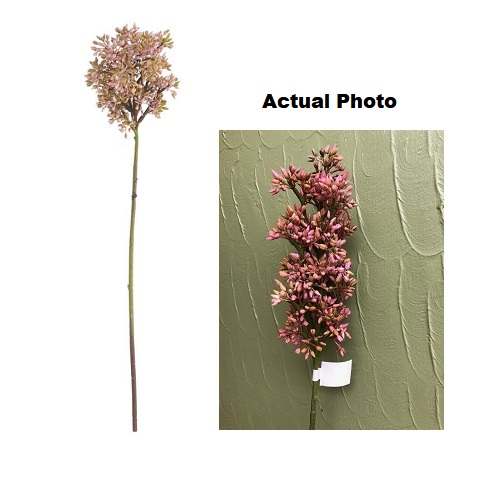 Budded Lilac Stem - Pink - Artificial floral - pink berry stem for rent or purchase