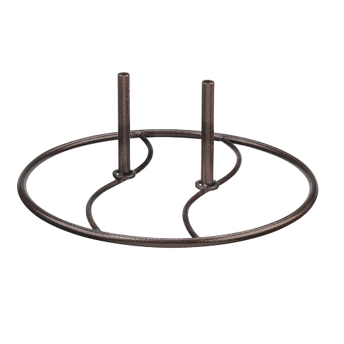 Garden Decor Display - Exclusive Ironworks - Metal Stand for garden decor on hard surfaces