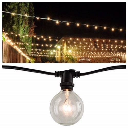 14' Vintage String Outdoor Lighting - Events & Themes - vintage outdoor string lights for rent