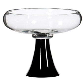 Bowl Vase Black Stem - Centerpieces & Columns - elegant centerpieces for weddings