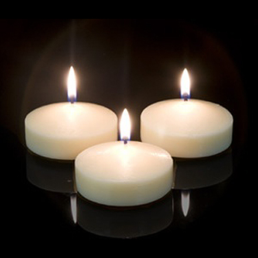 Floating Candles - Centerpieces & Columns - 3 inch bulk floating candles