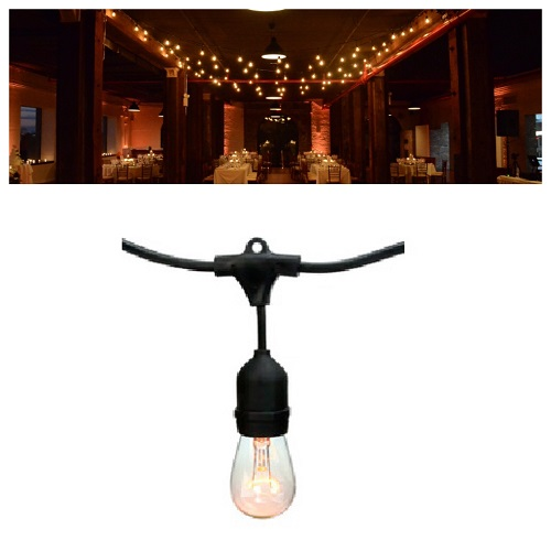 Patio String Lights (black, white or green wire) - Events & Themes - Restaurant Patio Lights