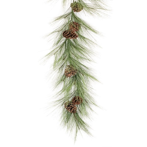 Long Needle Garland/Pinecones - Themed Rentals - Business Christmas Party decoration rentals