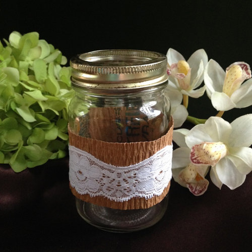 Mason Jars Decorated - Centerpieces & Columns - Mason jars for rent