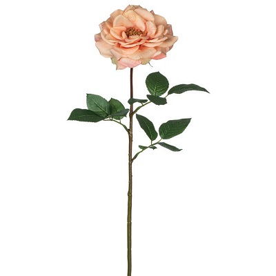 Rose Large Open Stem - Peach - Artificial floral - artificial rose stems for rent