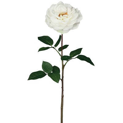 Rose Large Open Stem - White - Artificial floral - artificial white roses for sale