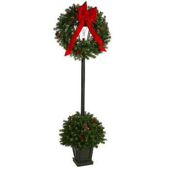 Scrooge Stage Decor 6' 5 - Artificial Trees & Floor Plants - Politically Correct Christmas decoration