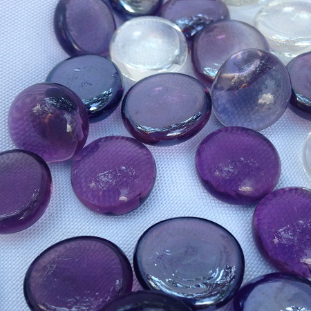 Purple Glass Stones - Centerpieces & Columns - Purple Centerpiece stones for rent