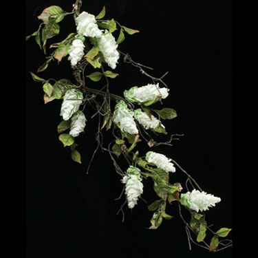 Hybrid Hops Bough White - Artificial floral - artificial hops bough