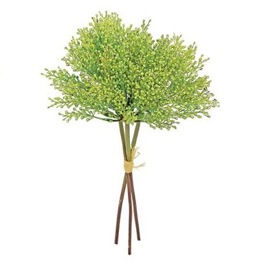 Seed Spray Bundle X3 Green - Artificial floral - Seeded artificial stem for sale in bulk