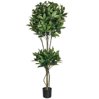 Shikiba Double Topiary 4' - Artificial Trees & Floor Plants - contemporary topiary 4ft tree for rent