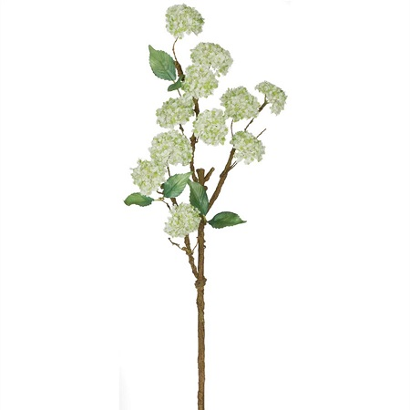 Snowball Stem White - Artificial floral - White Wedding filler flowers for artificial arrangements