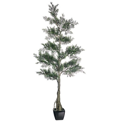 5' Potted Cedar Tree - Artificial Trees & Floor Plants - artificial cedar tree 5 feet