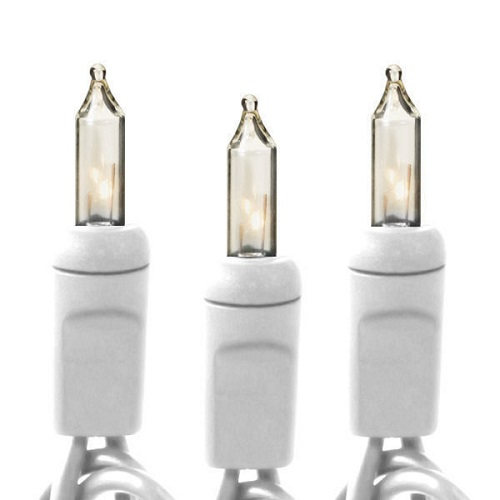 Commercial Duty White Wire Incandescent (100ct)  - Events & Themes - Wedding incandescent 100 mini lights