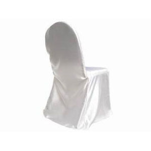 Chair Covers - White Satin - Events & Themes - white satin chair covers for rent