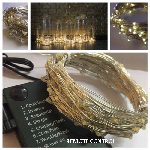 Micro LED Light String with Remote - Events & Themes - Remote Control LED FAIRY Lights