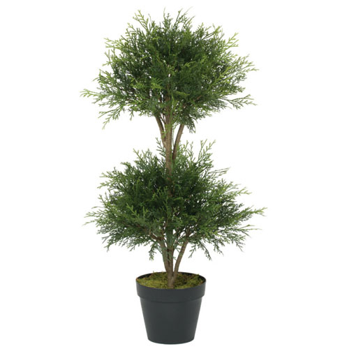 Pine Cedar Ball Dbl Topiary - Artificial Trees & Floor Plants - Topiary Christmas Wedding Trees Minneapolis