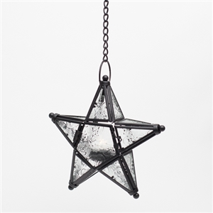 Hanging Star with tealight - Events & Themes - Lighted Wedding star decor to hang from trees at night