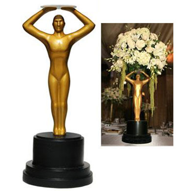 17lb Oscar Statuette Centerpiece - Themed Rentals - Hollywood Buffet MegaGold Premiere Table Centerpiece