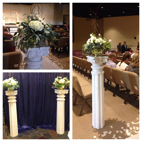 White Wedding Columns