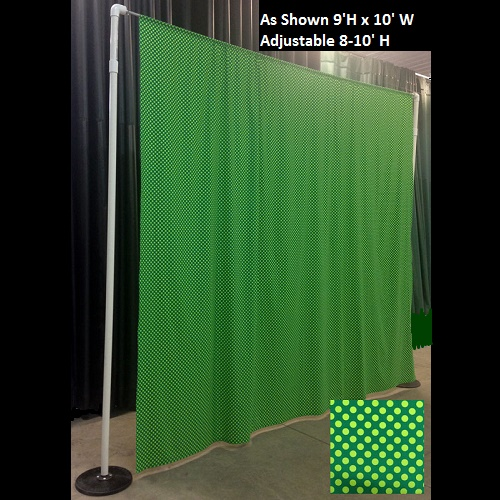 Polka Dot Backdrop - Events & Themes - St. Patricks Day Fabric Photo backdrop for rent