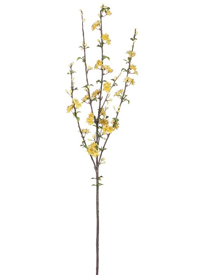Almond Flowering Branch - Artificial floral - tall artificial yellow flowering branches