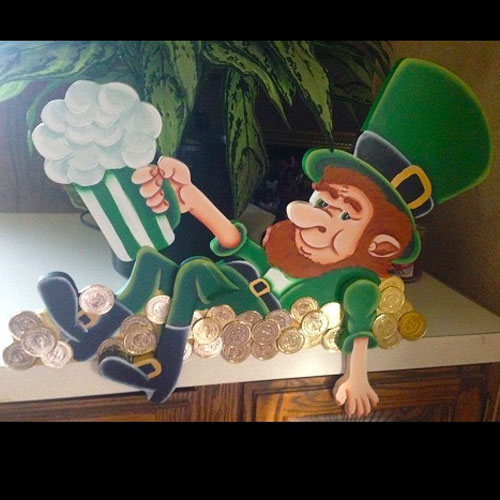 St. Patrick's Day Party Decoration Idea - Idea Gallery - Leprechaun decoration with beer
