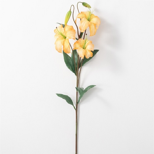 Lilium Stem - Yellow - Artificial floral - tall yellow artificial flowers for weddings