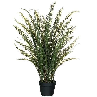 Upright Potted Fern - Themed Rentals - Artificial tall potted upright fern