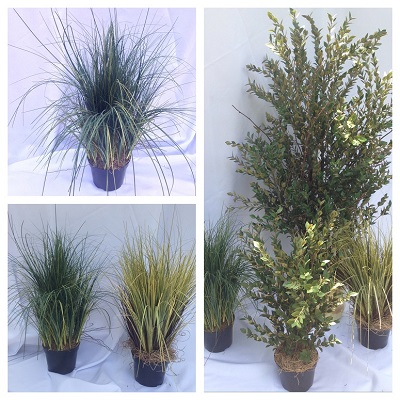 Artificial potted grass - Artificial floral - artificial potted grass 2 feet tall